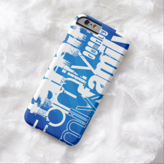 Family; Royal Blue Stripes Barely There iPhone 6 Case