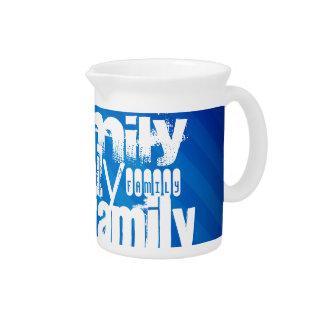 Family; Royal Blue Stripes Beverage Pitcher
