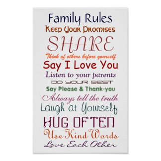 Family Rules for Love and Life Poster