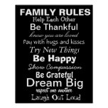 FAMILY RULES, Inspiration for a happy family! Poster