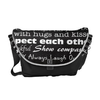 Family Rules Last Name Personalized Bag Tote Purse Messenger Bag