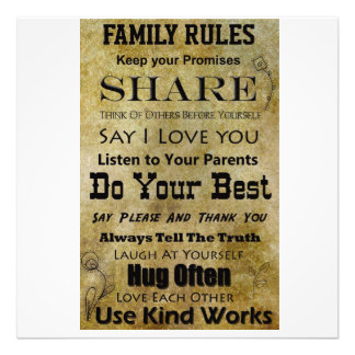 Family Rules Photo