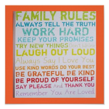 Family Rules Poster Mod Art by creativeconceptss at Zazzle