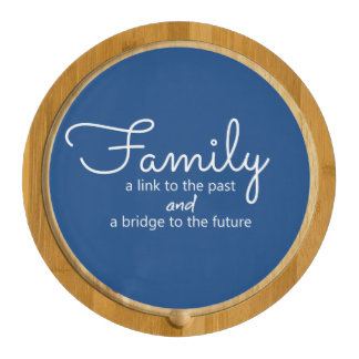 Family Saying Cheese Board (Blue) Round Cheeseboard