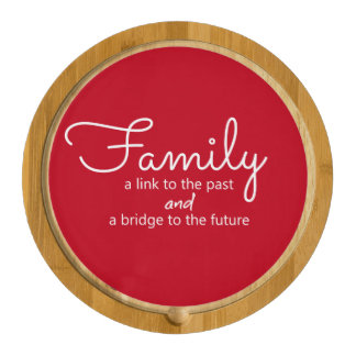 Family Saying Cheese Board (Red) Round Cheeseboard