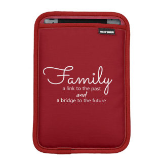 Family Saying iPad Mini Tablet Sleeve (Red)