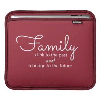 Family Saying iPad Tablet Sleeve (Red)