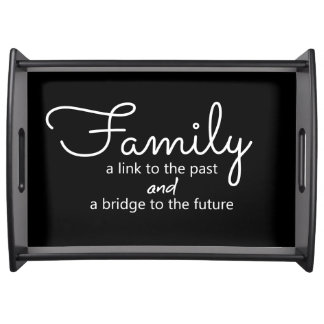 Family Saying Serving Tray (Black)