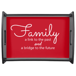 Family Saying Serving Tray (Red)