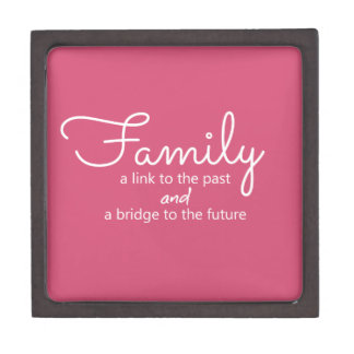 Family Saying Wooden Gift Box (Pink)