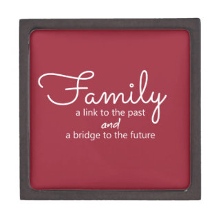 Family Saying Wooden Gift Box (Red)
