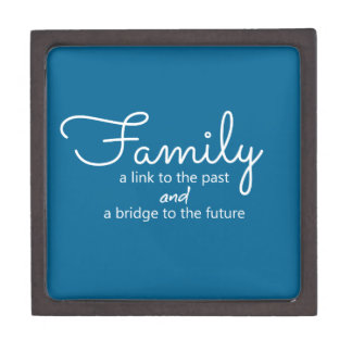 Family Saying Wooden Gift Box (Teal)