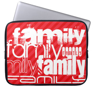 Family; Scarlet Red Stripes Laptop Computer Sleeve