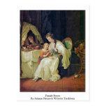 Family Scene By Johann Heinrich Wilhelm Tischbein Postcard