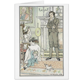 Family Scene, Greeting Card