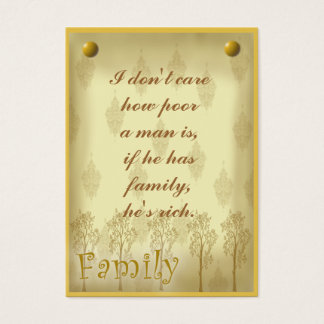 Family scrapbook tag or business card