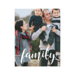 Family Script Overlay Photo Canvas Print<br><div class='desc'>Display a favorite family,  holiday or wedding photo on this striking wrapped canvas print featuring &quot;family&quot; in elegant,  modern white handwritten script along the bottom. Photography courtesy Storytree Studios,  Stanford,  CA.</div>