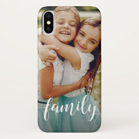 Family Script Overlay | Photo iPhone XS Case