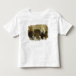 Family seated around a hearth toddler t-shirt