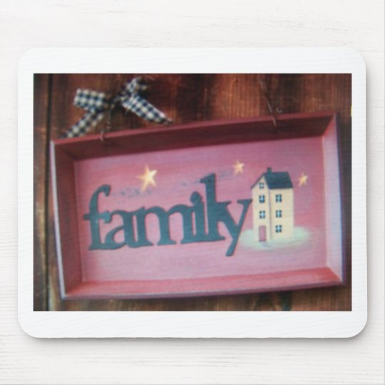family sign mouse pad