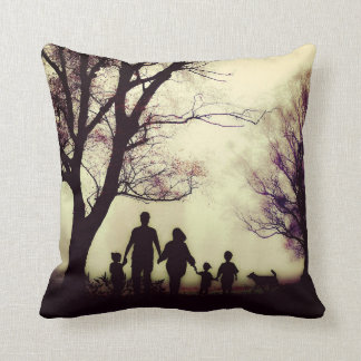 Family Silhouette Pillow