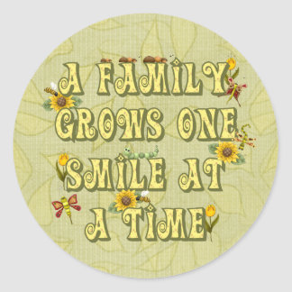 Family Smile Round Sticker
