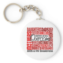 Family Square AIDS Keychain