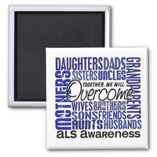 Family Square ALS 2 Inch Square Magnet