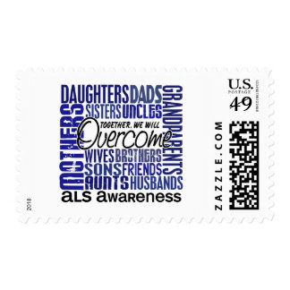 Family Square ALS Postage Stamps