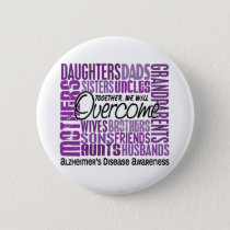 Family Square Alzheimer's Disease Button