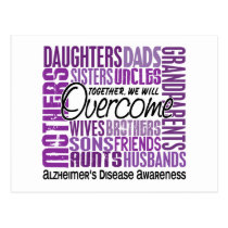 Family Square Alzheimer's Disease Postcard