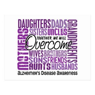 Family Square Alzheimer's Disease Postcard