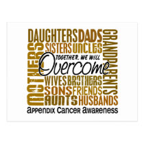 Family Square Appendix Cancer Postcard