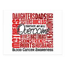 Family Square Blood Cancer Postcard