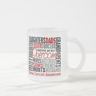 Family Square Bone Cancer 10 Oz Frosted Glass Coffee Mug