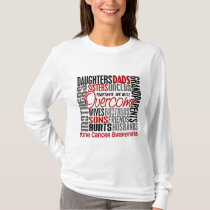 Family Square Bone Cancer T-Shirt