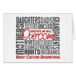 Family Square Brain Cancer Card
