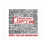 Family Square Brain Cancer Postcard