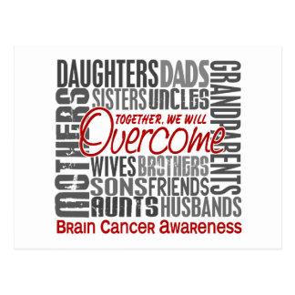 Family Square Brain Cancer Postcard