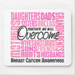 Family Square Breast Cancer Mousepads