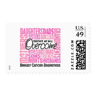 Family Square Breast Cancer Postage