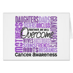 Family Square Cancer Greeting Card