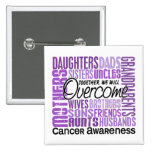 Family Square Cancer Pinback Button