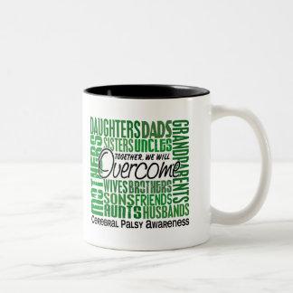 Family Square Cerebral Palsy Two-Tone Coffee Mug