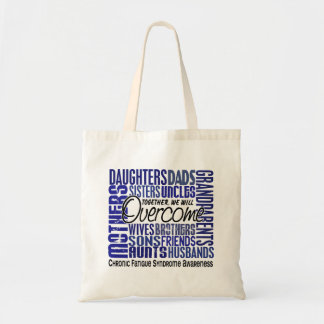 Family Square CFS Chronic Fatigue Syndrome Tote Bags