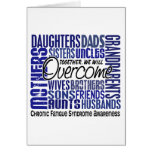 Family Square CFS Chronic Fatigue Syndrome Greeting Card