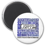 Family Square CFS Chronic Fatigue Syndrome Refrigerator Magnets