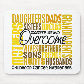 Family Square Childhood Cancer Mousepad