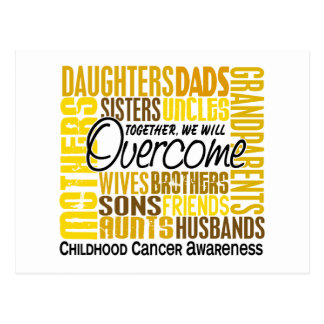Family Square Childhood Cancer Postcard
