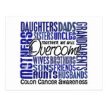 Family Square Colon Cancer Post Cards